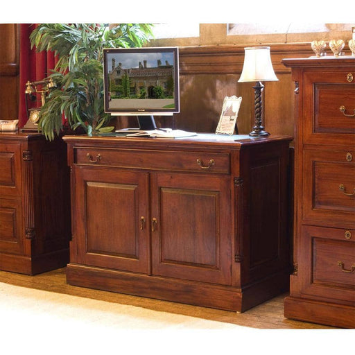 La Roque Mahogany Hidden Home Office 2 Door 1 Drawer Sideboard - Simply Utopia