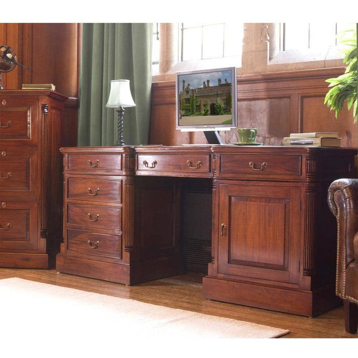 La Roque Twin Pedestal Computer Desk - Simply Utopia