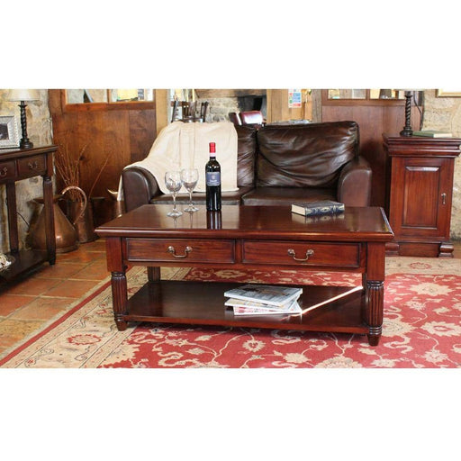 La Roque Coffee Table With Drawers - Simply Utopia