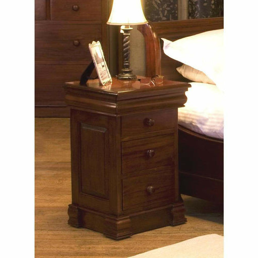 La Roque 4 Drawer Lit Bateau Lamp Table - Simply Utopia