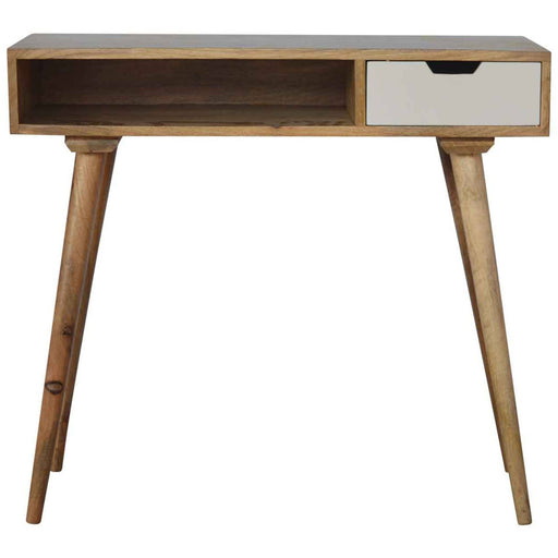 Painted Writing Desk with Open Slot - Simply Utopia