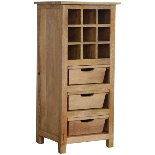 9 Wine Bottle Cabinet with 3 Drawers - Simply Utopia