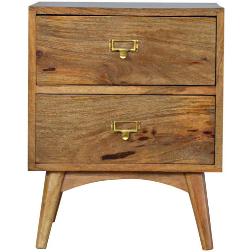 Nordic Style Two Drawer Bedside - Simply Utopia
