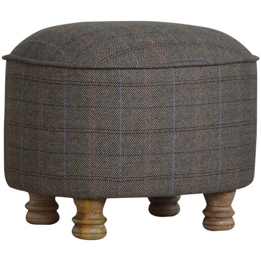 Oval Multi Tweed Foot Stool - Simply Utopia