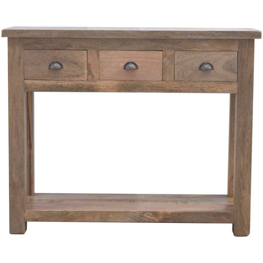 Solid Wood Hallway Console Table with 3 Drawers - Simply Utopia