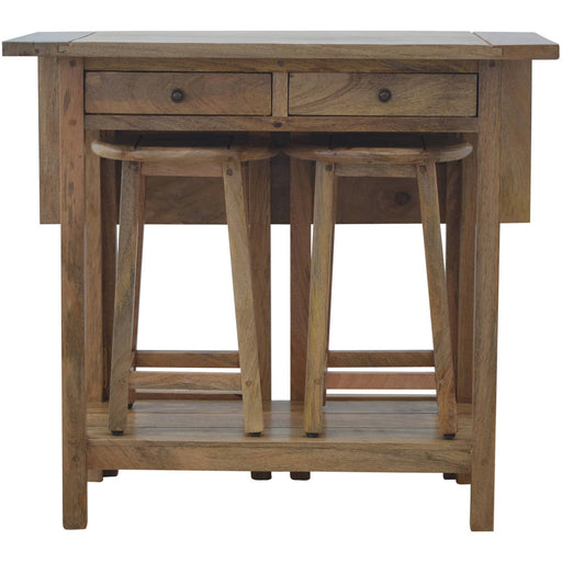 Solid Wood Breakfast Table With 2 Stools - Simply Utopia