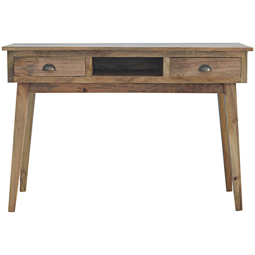 Two Drawer Writing Desk with Open Slot - Simply Utopia