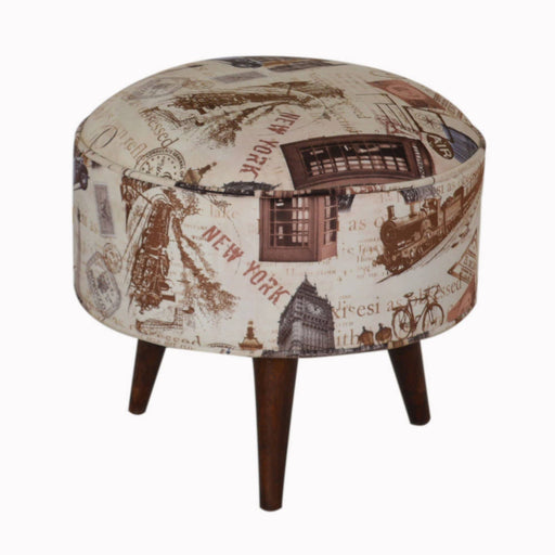 City Print Footstool - Simply Utopia