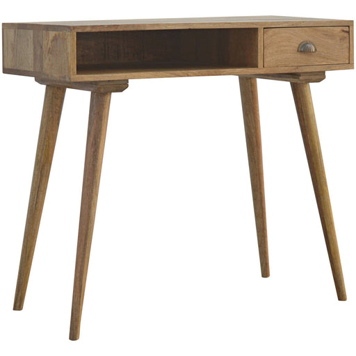 Solid Wood Nordic 1 Drawer Writing Desk with Open Slot - Simply Utopia