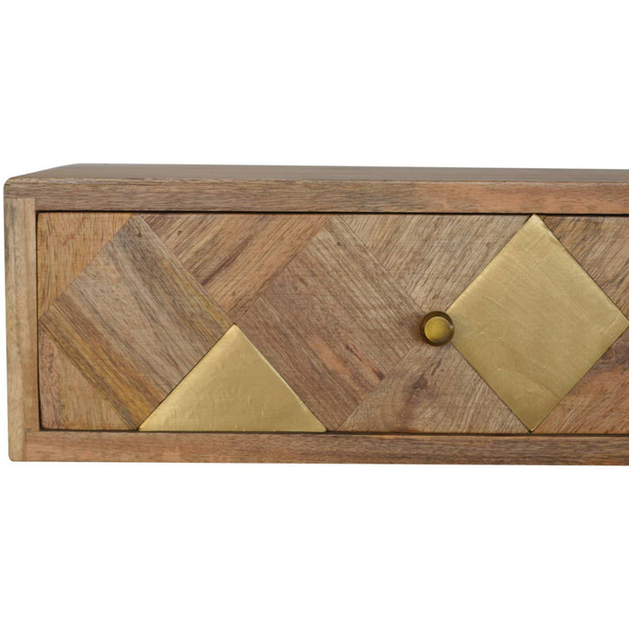Wall Mounted Brass Inlay Bedside - Simply Utopia