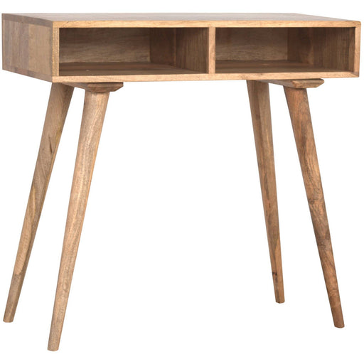 Solid Wood Nordic Writing Desk With 2 Open Slots - Simply Utopia