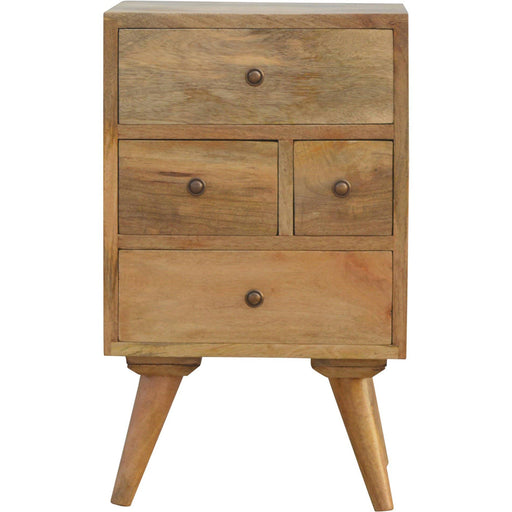 Nordic Designed 4 Drawer Petite Bedside - Simply Utopia