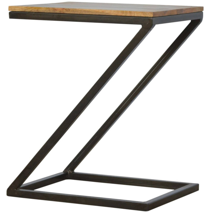 Side Table with Iron Base - Simply Utopia