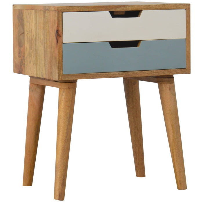 Blue 2 Drawer Bedside - Simply Utopia
