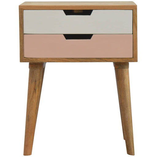 Pink 2 Drawer Bedside - Simply Utopia