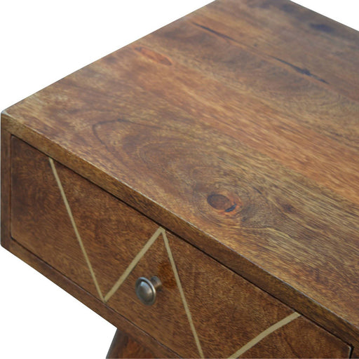 Brass Inlay 2 Drawer Console - Simply Utopia