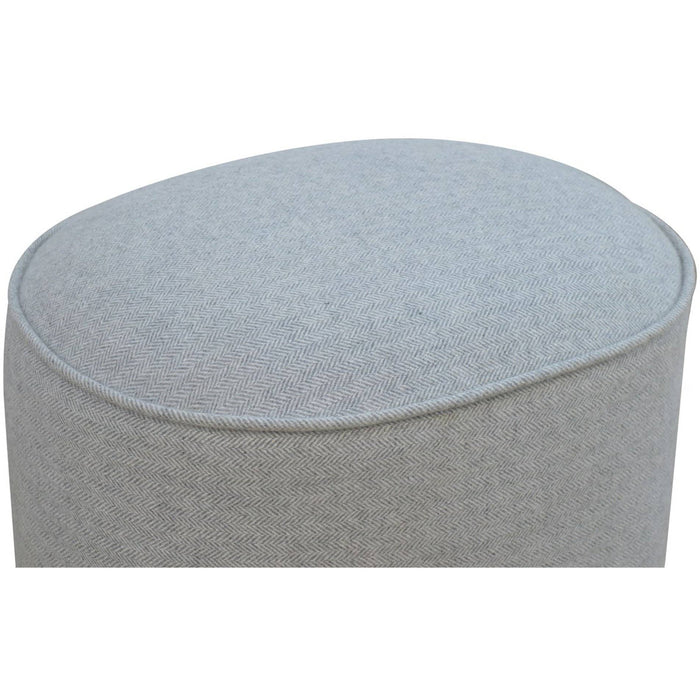 Grey Oval Footstool - Simply Utopia