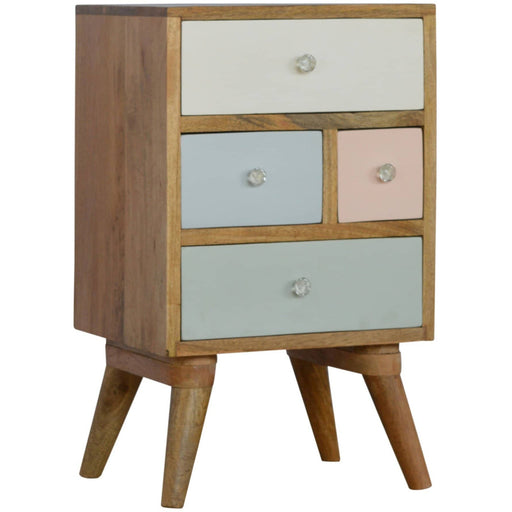 Hand Painted Multi Drawer Bedside Table - Simply Utopia
