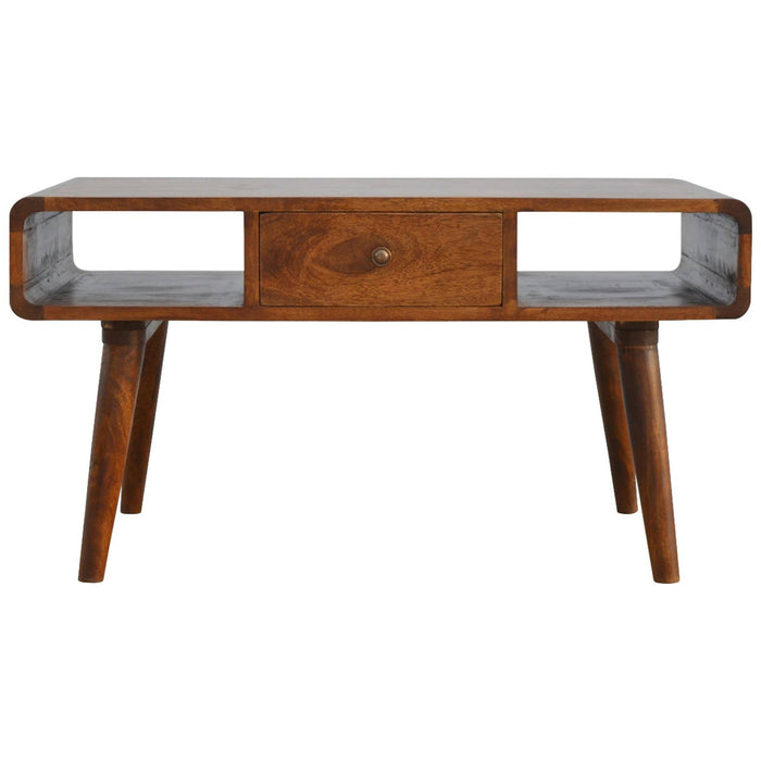 1 Drawer Curved Coffee Table - Simply Utopia