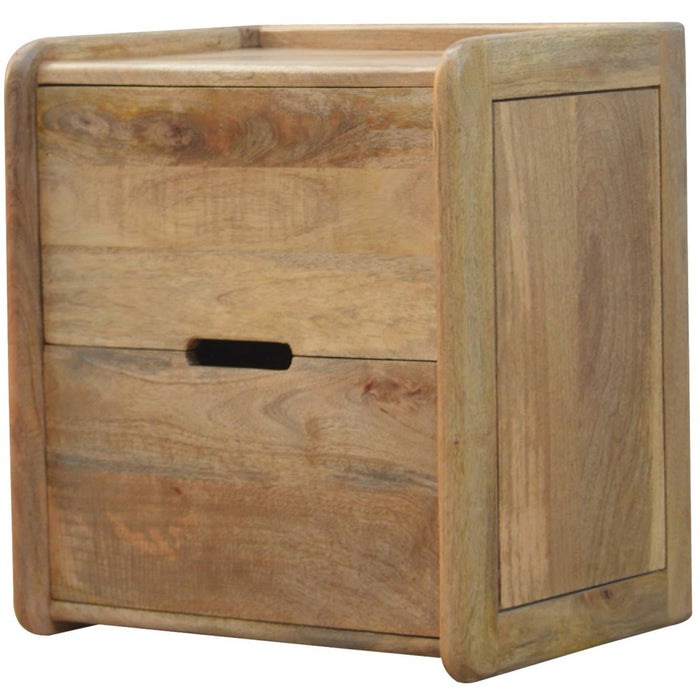 Gallery Back 2 Drawer Bedside with Open Slot - Simply Utopia