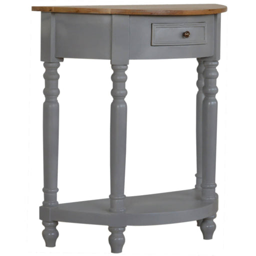 Grey Painted Serpentine Washstand - Simply Utopia