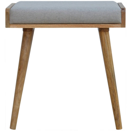 Tray Style Grey Tweed Footstool - Simply Utopia