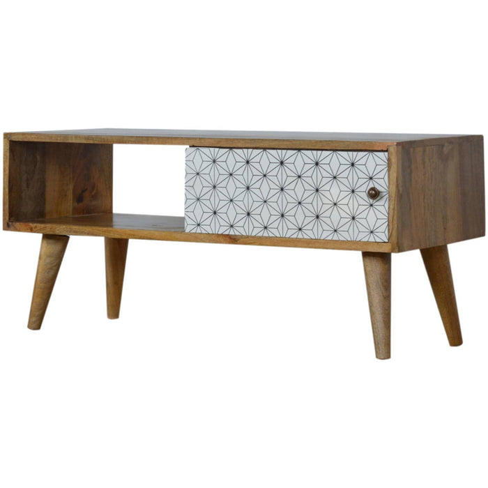 Media Unit With Geometric Screen - Simply Utopia