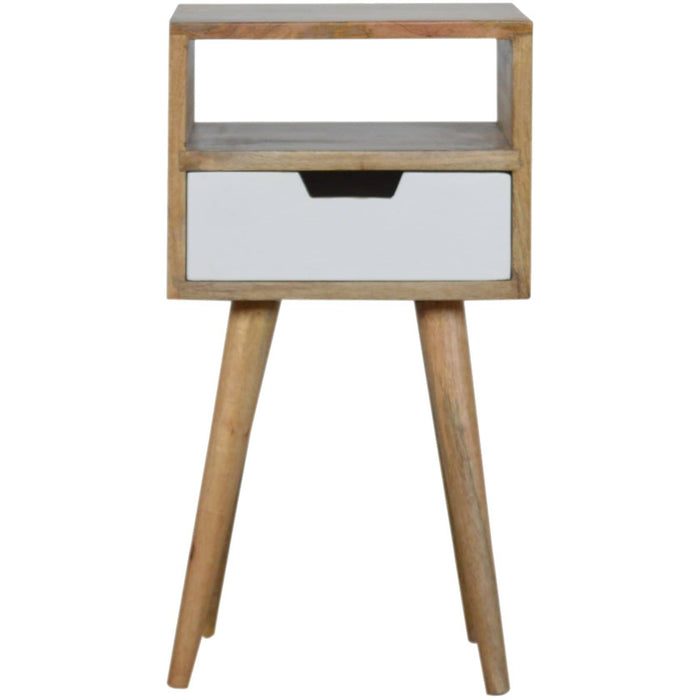 Compact Modern White Painted 1 Drawer Bedside - Simply Utopia