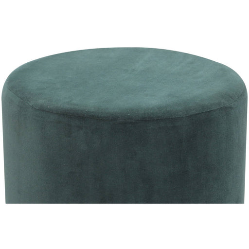 Emerald Green Velvet Footstool with Gold Base - Simply Utopia