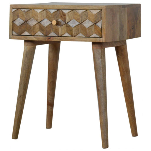 Cube Carved Bedside - Simply Utopia