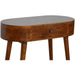 Chestnut Rounded Petite Console Table - Simply Utopia