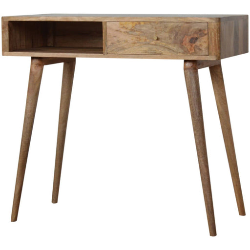 Leaf Embossed Resin Solid Wood Writing Desk - Simply Utopia