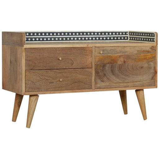 Bone Inlay Gallery Back Media Unit - Simply Utopia