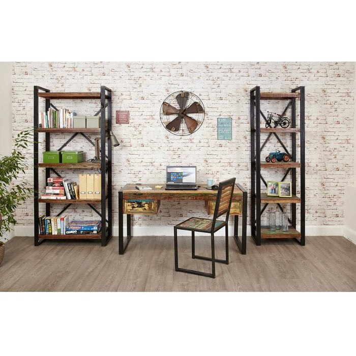 Urban Chic Reclaimed Wooden Alcove Bookcase With 4 Open Shelves - Simply Utopia