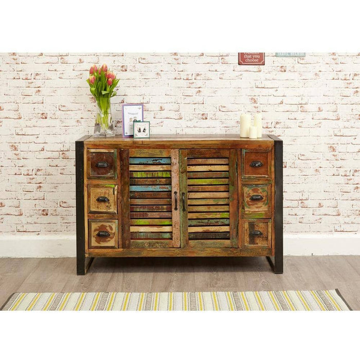 Urban Chic Reclaimed Wooden 6 Drawer Sideboard - Simply Utopia