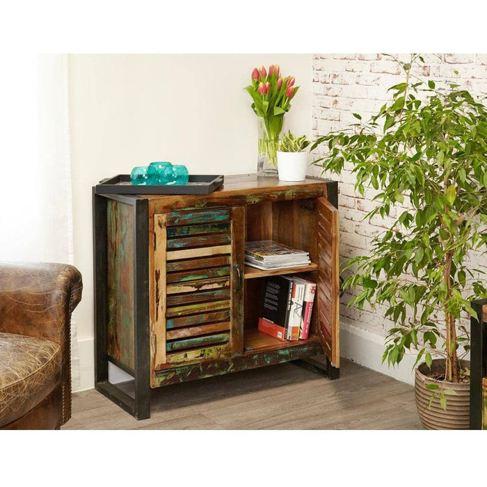 Urban Chic Reclaimed Wooded 2 Door Small Sideboard - Simply Utopia