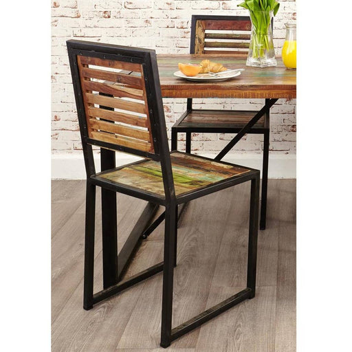 Urban Chic Reclaimed Wooden Dining Chair (Pack of two) - Simply Utopia