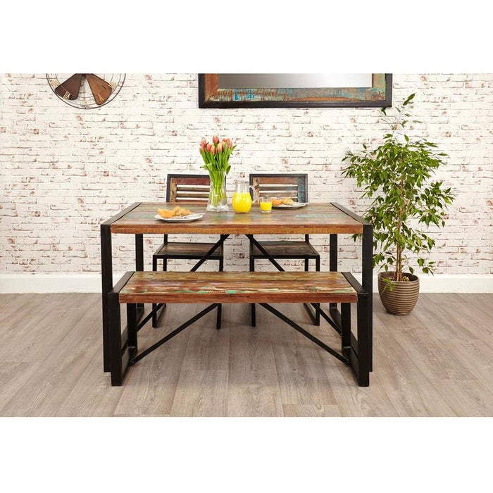 Urban Chic Reclaimed Wooden Dining Table Small - Simply Utopia
