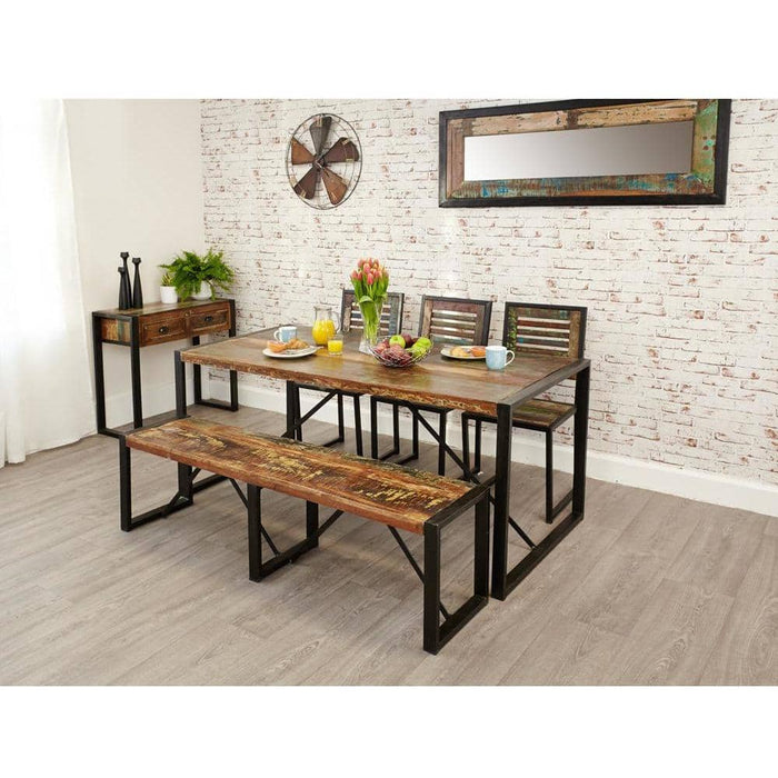 Urban Chic Reclaimed Wooden Dining Table Large - Simply Utopia