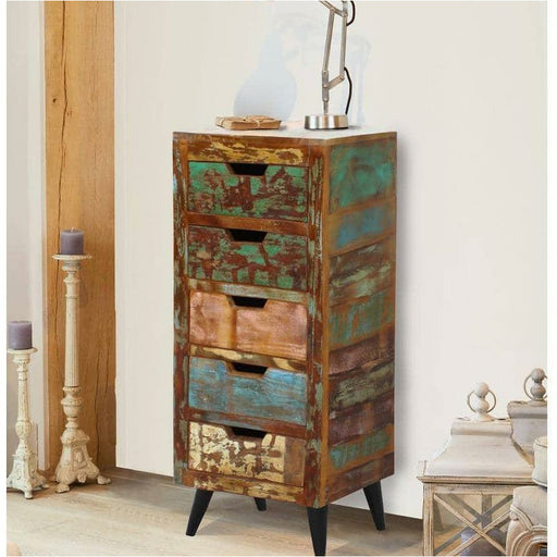 Coastal Chic 5 Drawer Tallboy - Simply Utopia