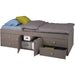 Captain's Single 3ft Cabin Bed GREY - Simply Utopia