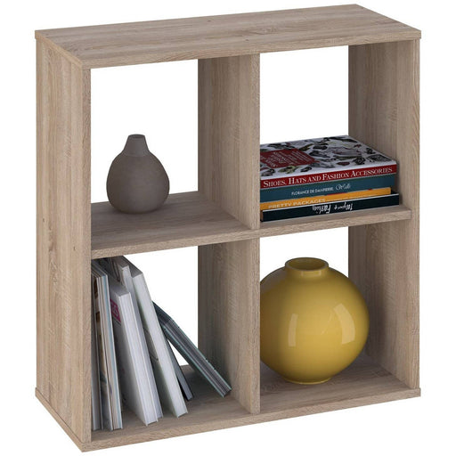 Kidsaw Kudl Home Smart 4 Cubic Section Shelving Unit - Oak - Simply Utopia