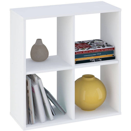 Kidsaw Kudl Home Smart 4 Cubic Section Shelving Unit - White - Simply Utopia