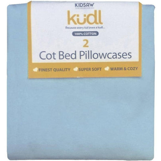 Kudl Kids Pillowcases 100% Cotton Twin Pack Blue - Simply Utopia
