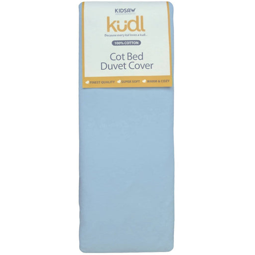 Kudl Kids Duvet Cover Cotbed 100% Cotton Blue - Simply Utopia