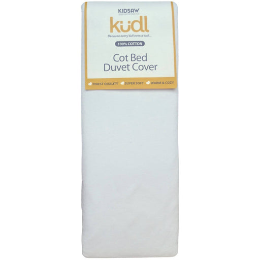 Kudl Kids Duvet Cover Cotbed 100% Cotton White - Simply Utopia