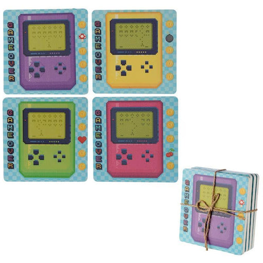 Set of 4 Novelty Coasters - Retro Gaming Design - Simply Utopia