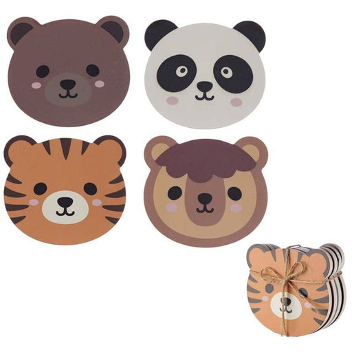 Set of 4 Novelty Coasters - Cute Animals Design - Simply Utopia