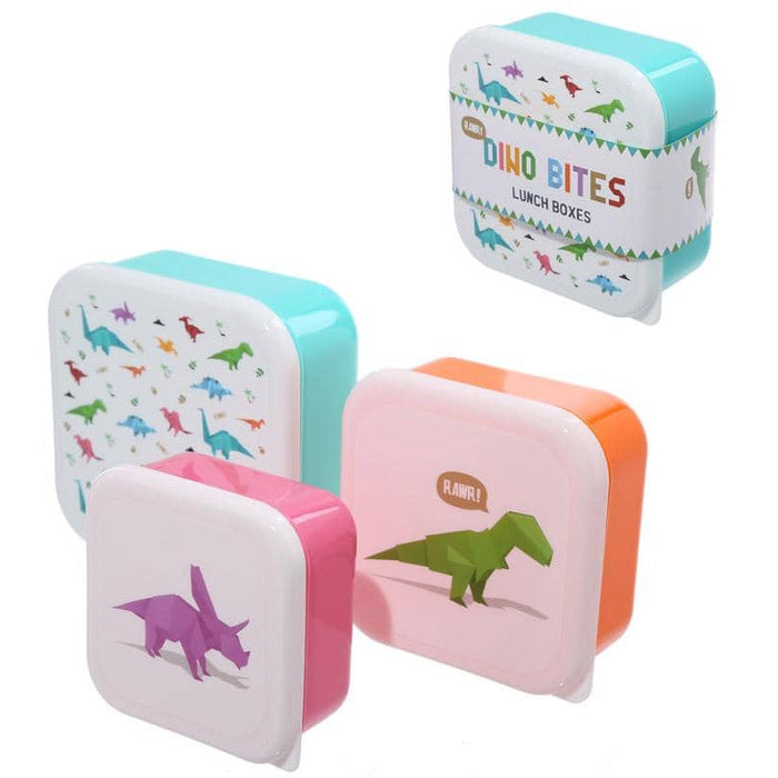 Fun Dinosaur Design Set of 3 Plastic Lunch Boxes - Simply Utopia