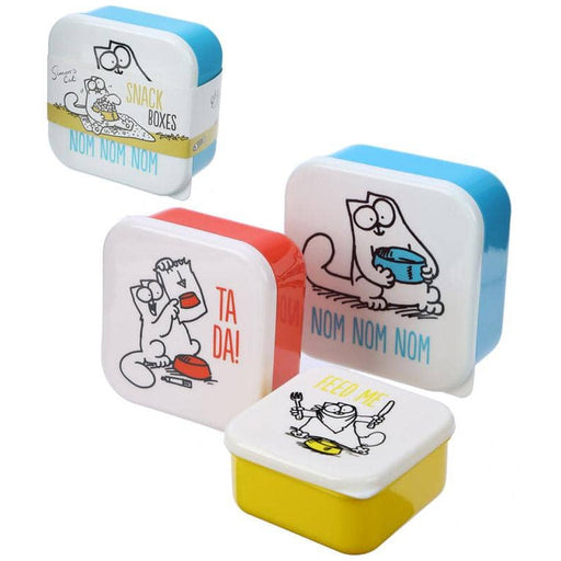 Fun Simon's Cat Design Set of 3 Plastic Lunch Boxes - Simply Utopia